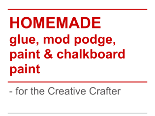 Homemade - for the Creative Crafter
