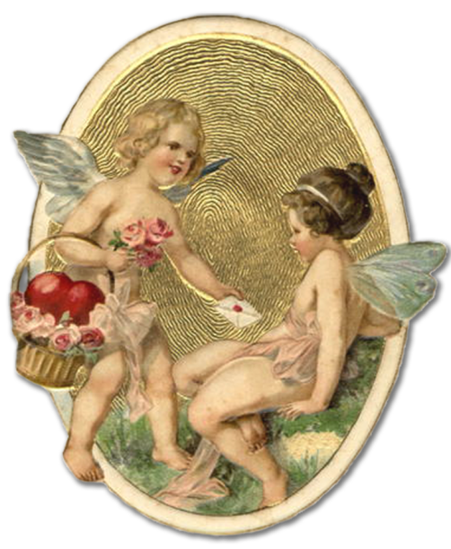 Wings of Whimsy: Boy & Girl Cherubs - free for personal use