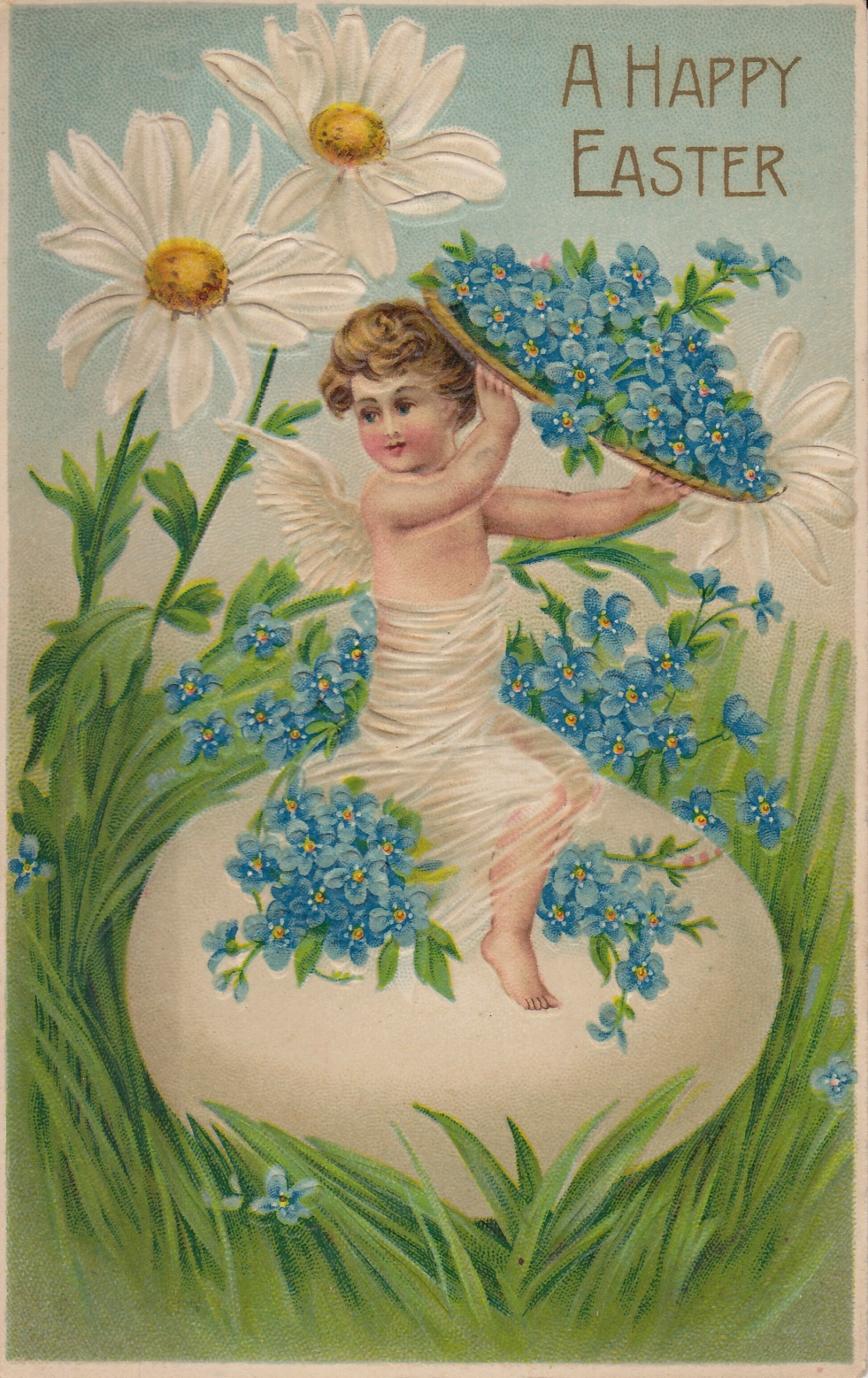 Wings of Whimsy: A Happy Cherub Easter - free for personal use #vintage #ephemera #printable #easter #freebie