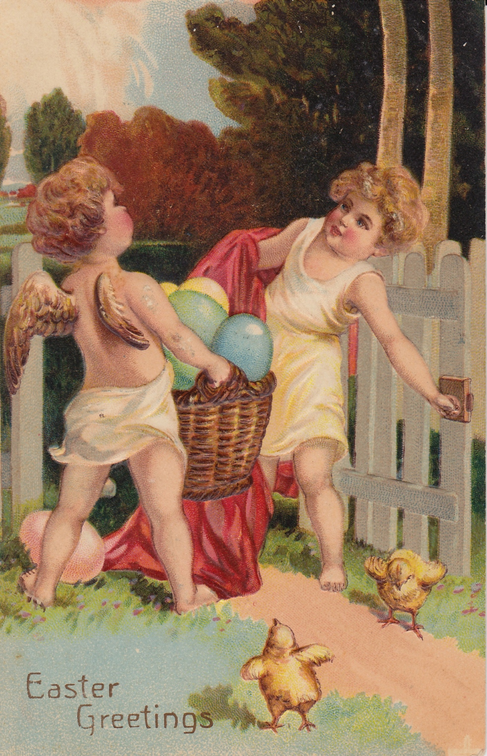 Wings of Whimsy: Easter Greetings - free for personal use #vintage #ephemera #printable #freebie #easter