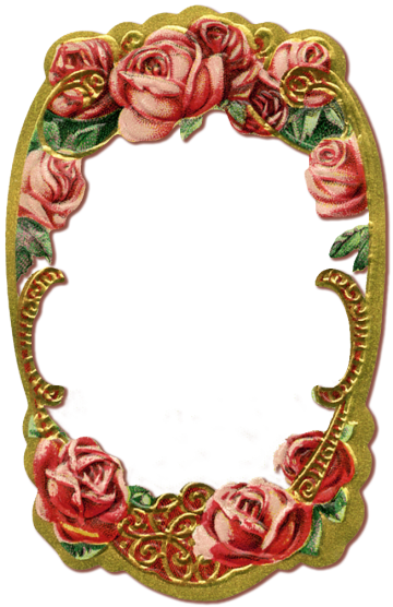 1908 Vintage Gilt Frame – free PNG file – Wings of Whimsy