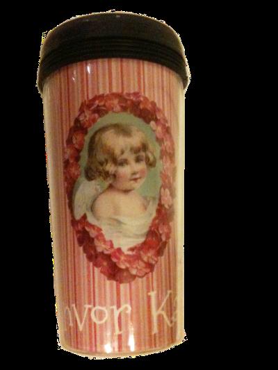 Wings of Whimsy: Cherub Tumbler Cup Printable - free printable #vintage #ephemera