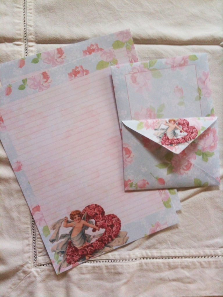 Wings of Whimsy: FREE Printable Cherub Rose Stationery Set - free for personal use