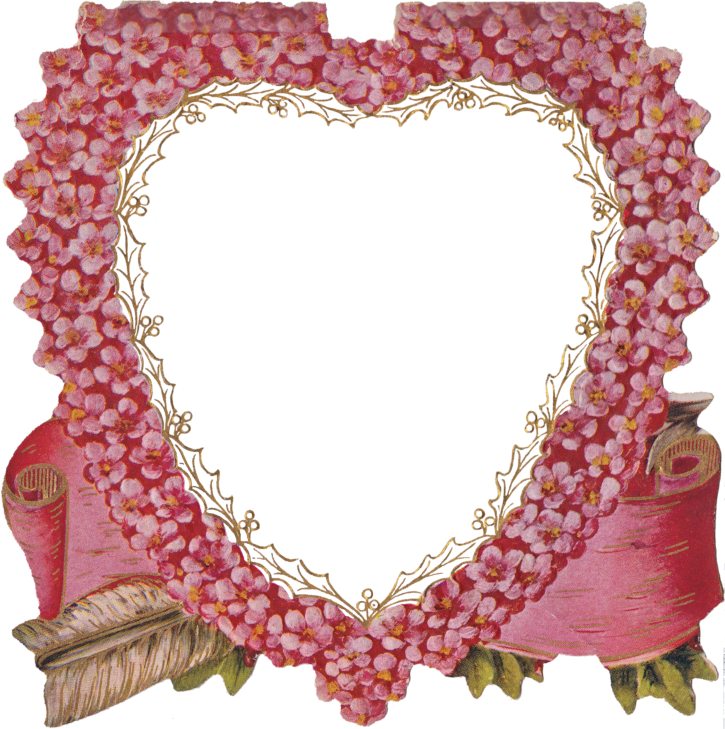 heart floral frame valentine - photo #5