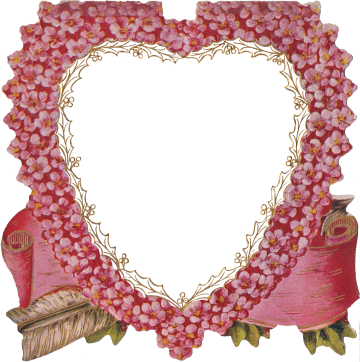 Wings of Whimsy: Die Cut Heart Pink Flowers Frame