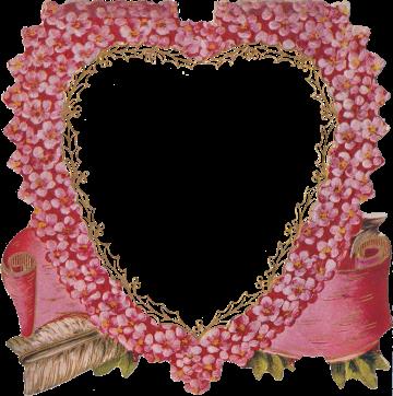 Wings of Whimsy: Die Cut Heart Pink Flowers Frame