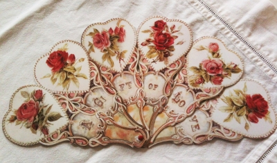 Wings of Whimsy: Victorian Rose Fan: A Gift of Love - free for personal use #vintage #ephemera