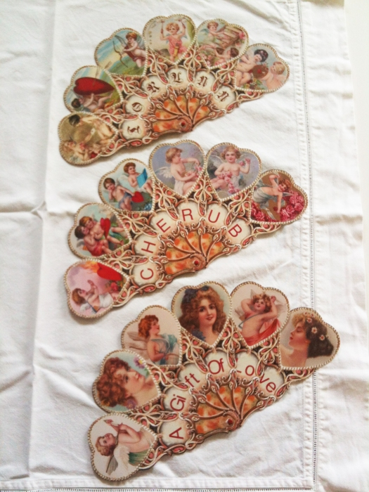 Customizable Victorian Cherub Fan