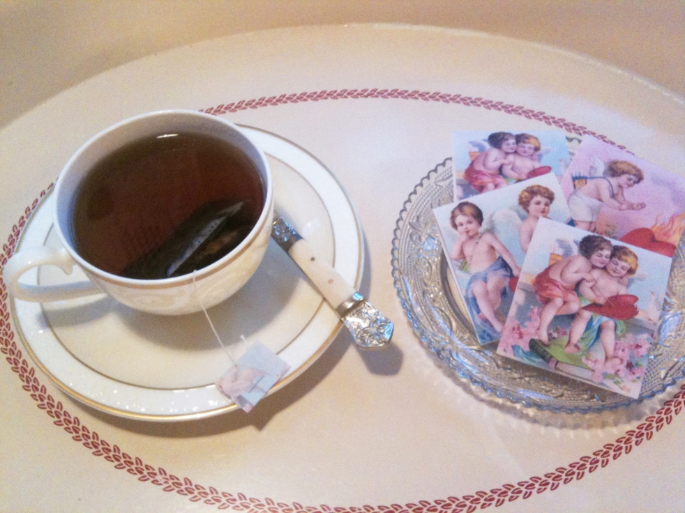 Wings of Whimsy: Cherub Teatime - Free Printable Tea Bag Wrappers - free for personal use