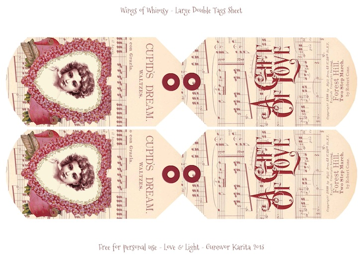 Wings of Whimsy: Free Printable Double Tags - free for personal use