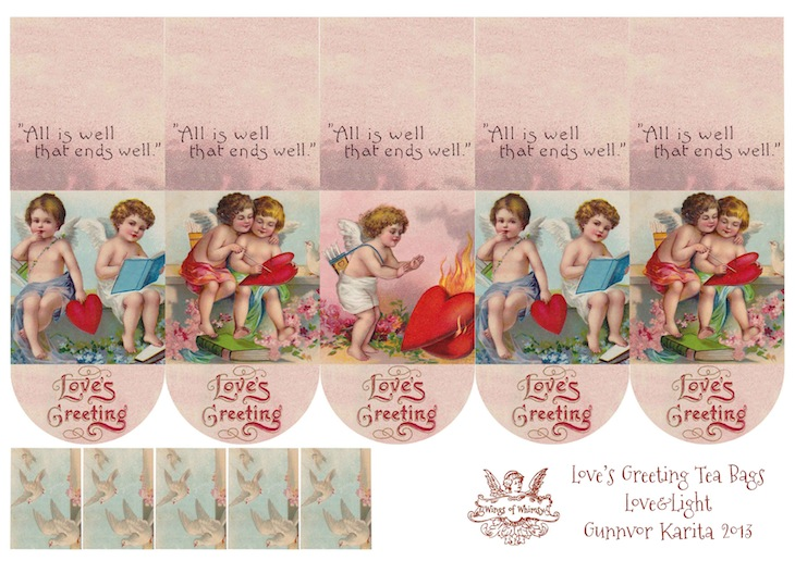 Wings of Whimsy: Free Printable Cherub Teatime Teabag Wrappers - free for personal use