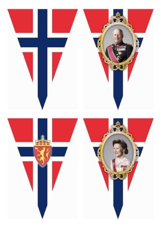 Norwegian National Day Bunting