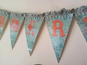 Wings of Whimsy: Summertime Bunting Vintage Style - free printable for personal use