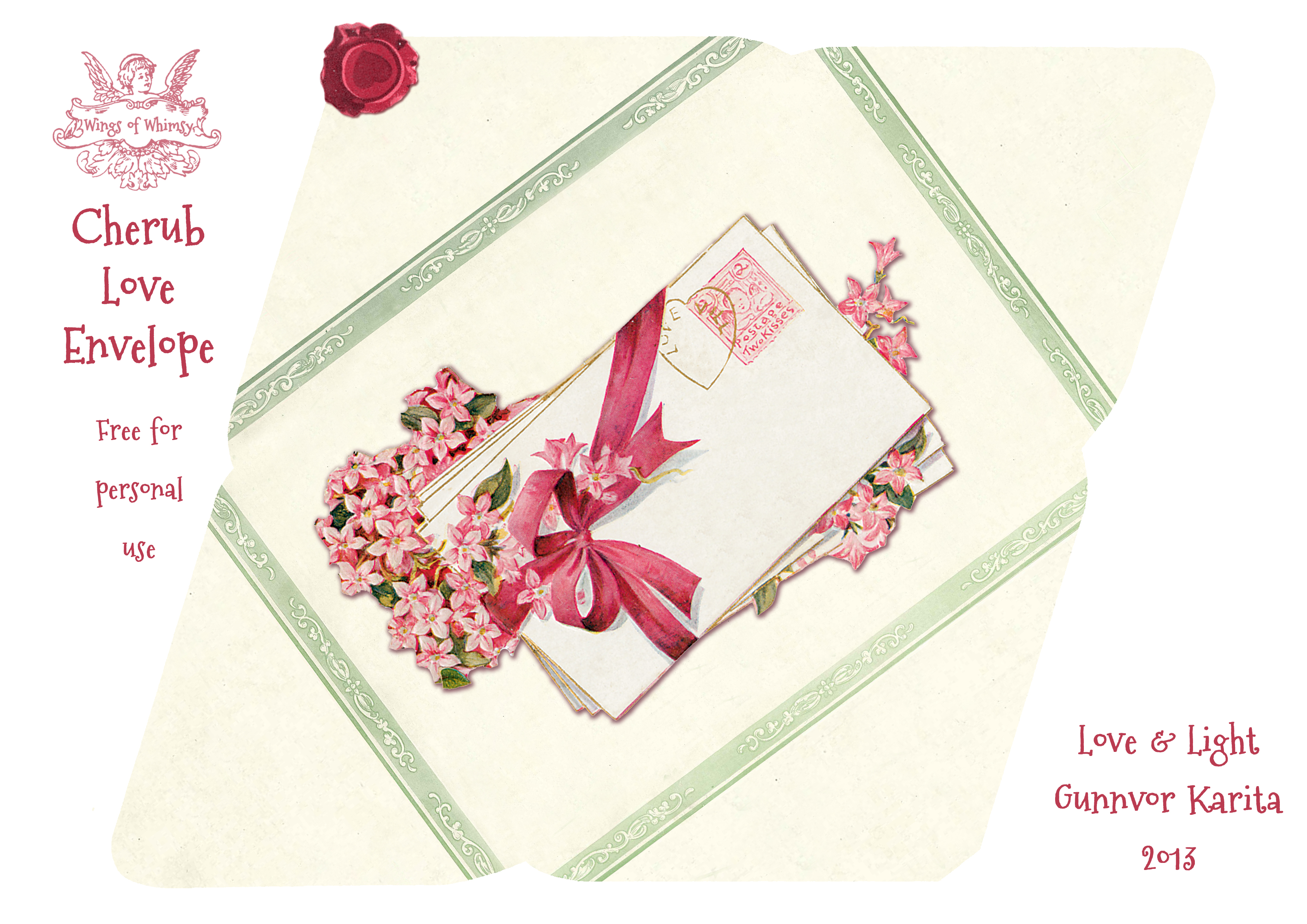 Free Birthday Stationary ~ Cherub love letters u2013 free printable stationery set u2013 wings of whimsy