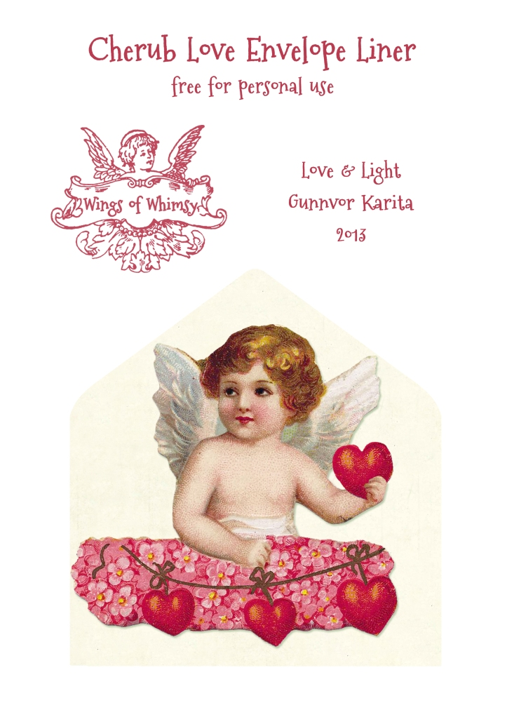 Wings of Whimsy: Cherub Envelope Liner - free for personal use