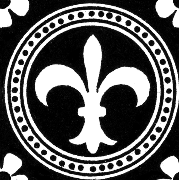 Wings of Whimsy: Fleur De Lis Seamless Tile - PNG - free for personal use