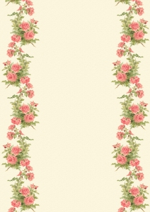 Wings of Whimsy: Peach Roses Paper 1 - free for personal use