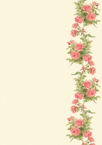 Wings of Whimsy: Peach Roses Paper 2 - free for personal use