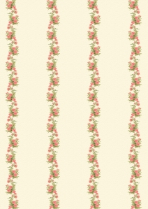Wings of Whimsy: Peach Roses Paper 3 - free for personal use