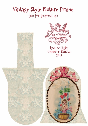 Wings of Whimsy: Vintage Style Picture Frames No 3 - free for personal use