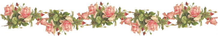 Wings of Whimsy: Pink Roses Border - Catherine Klein - PNG (transparent background) - free for personal use
