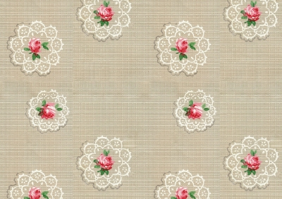 Wings of Whimsy: Rose & Doily Paper - free for personal use #vintage #ephemera #printable