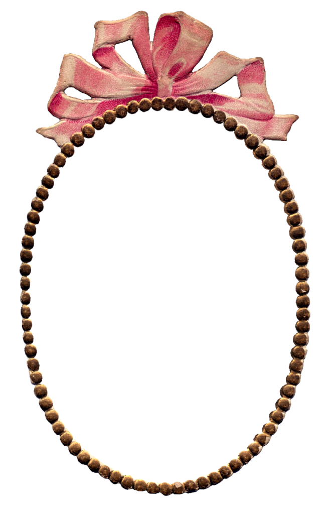 Wings of Whimsy: Pink Ribbon Frame PNG (transparent background) - free for personal use
