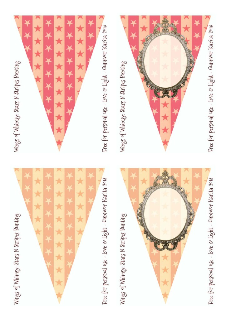 Wings of Whimsy: Stars N Stripes Customizable Bunting - free for personal use