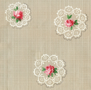 Wings of Whimsy: Seamless Tile - Random Doilies And Roses - free for personal use