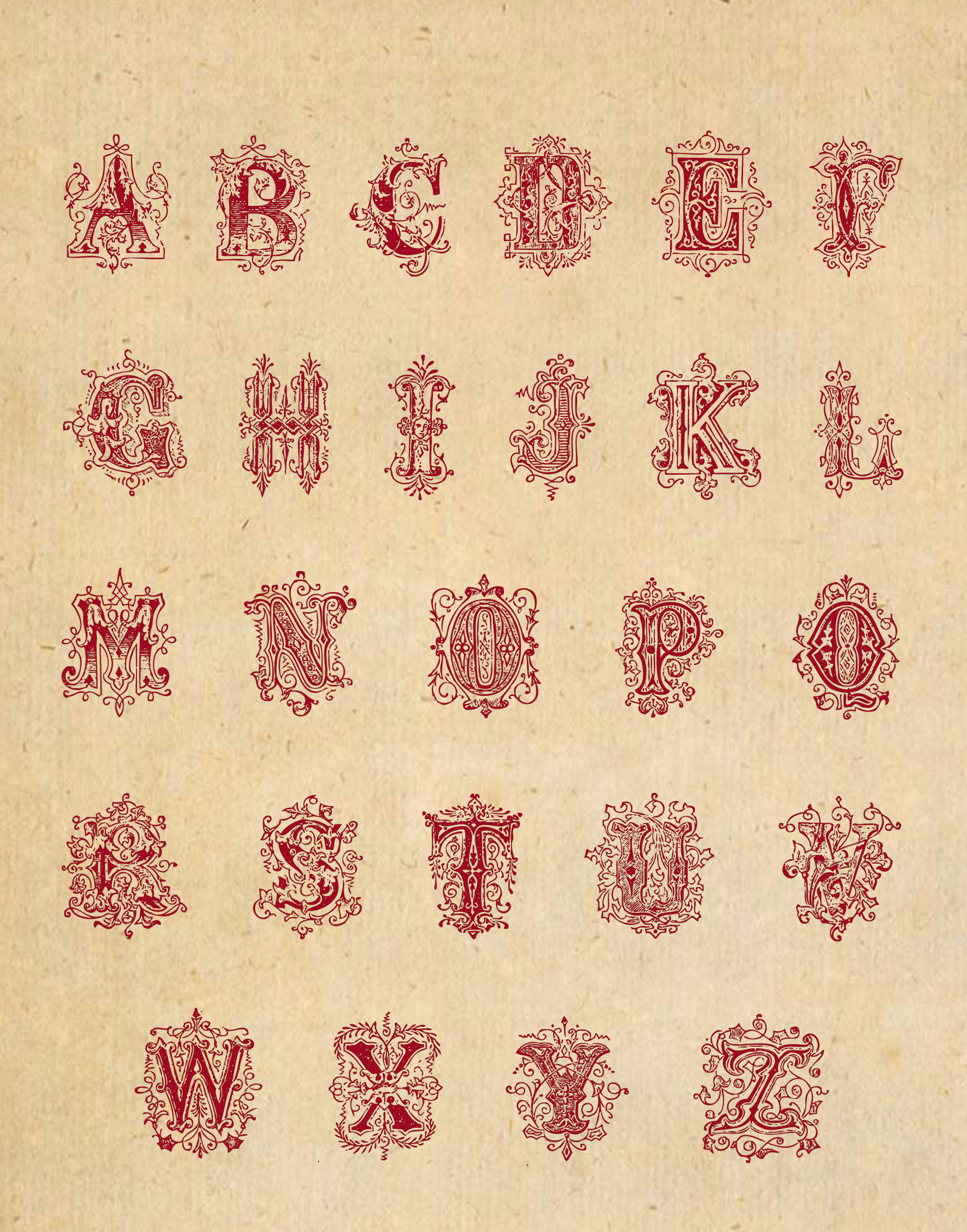 Worksheet Alphabet Printables writing wings of whimsy vintage alphabet vectorized and png