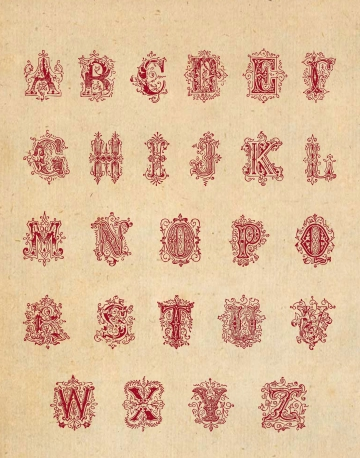 Wings of Whimsy: Vectorized Alphabet Sheet - free for personal use