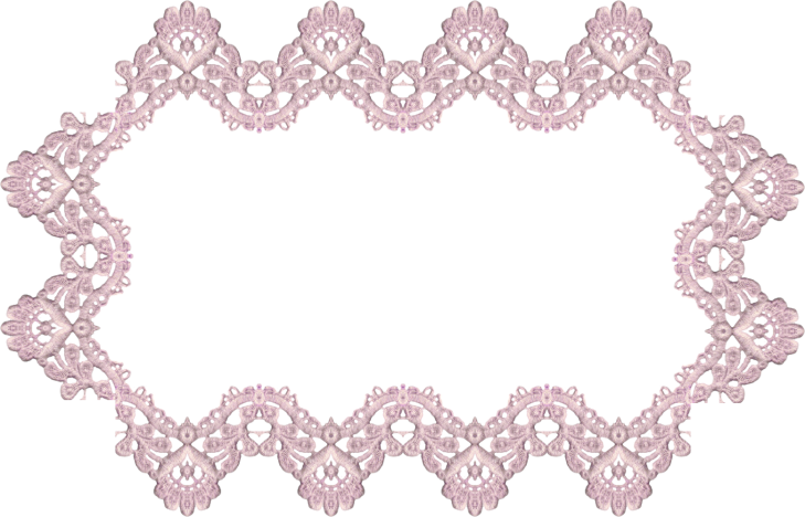 Wings of Whimsy: Lavender Lace Rectangular Frame 2 - free for personal use