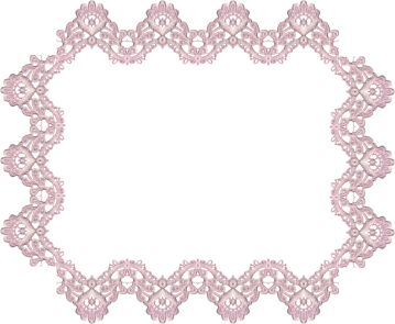 Wings of Whimsy: Lavender Lace Rectangular Frame 1