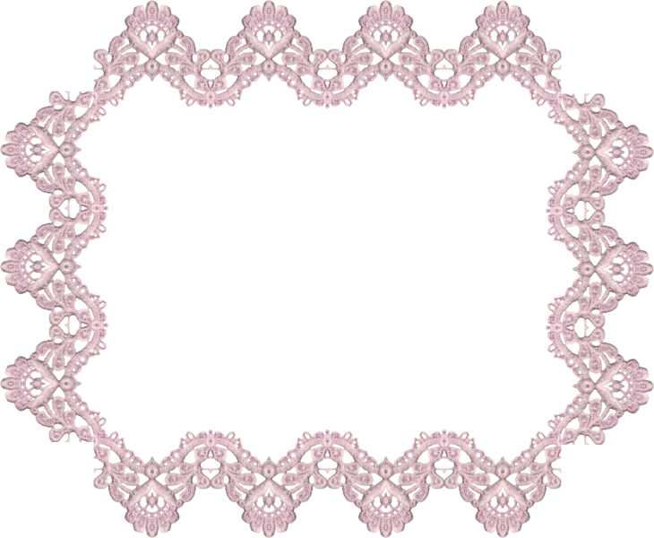 Wings of Whimsy: Lavender Lace Rectangular Frame 1 - free for personal use