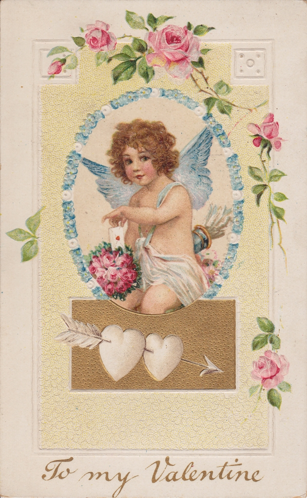 Wings of Whimsy: Cherub Love Messages - free for personal use