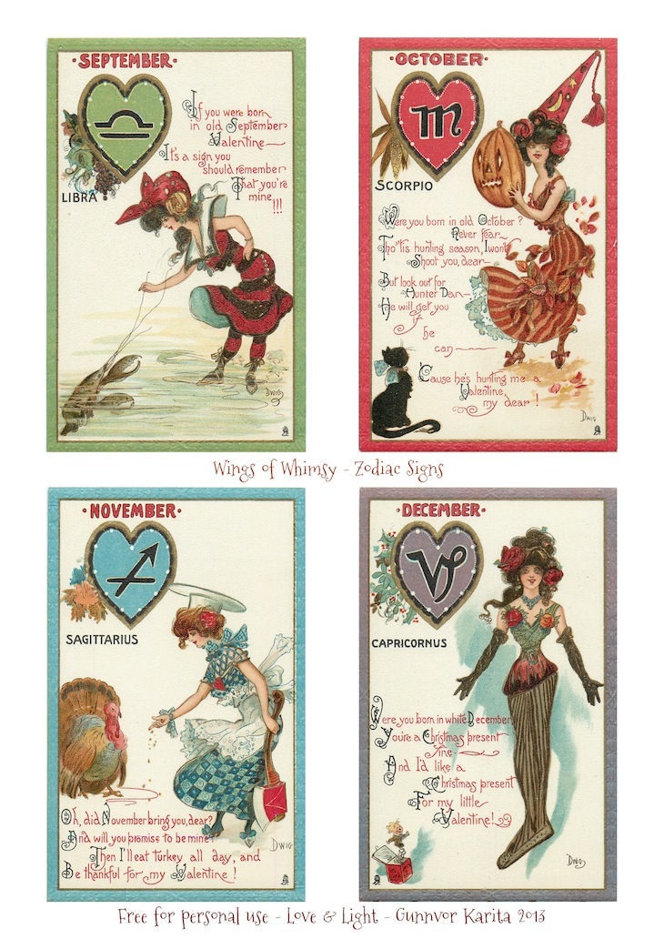 Wings of Whimsy: Zodiac Signs Printable Bunting Page 3 - free for personal use
