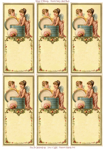 Wings of Whimsy: French Fairy Blank Label Sheet - free for personal use