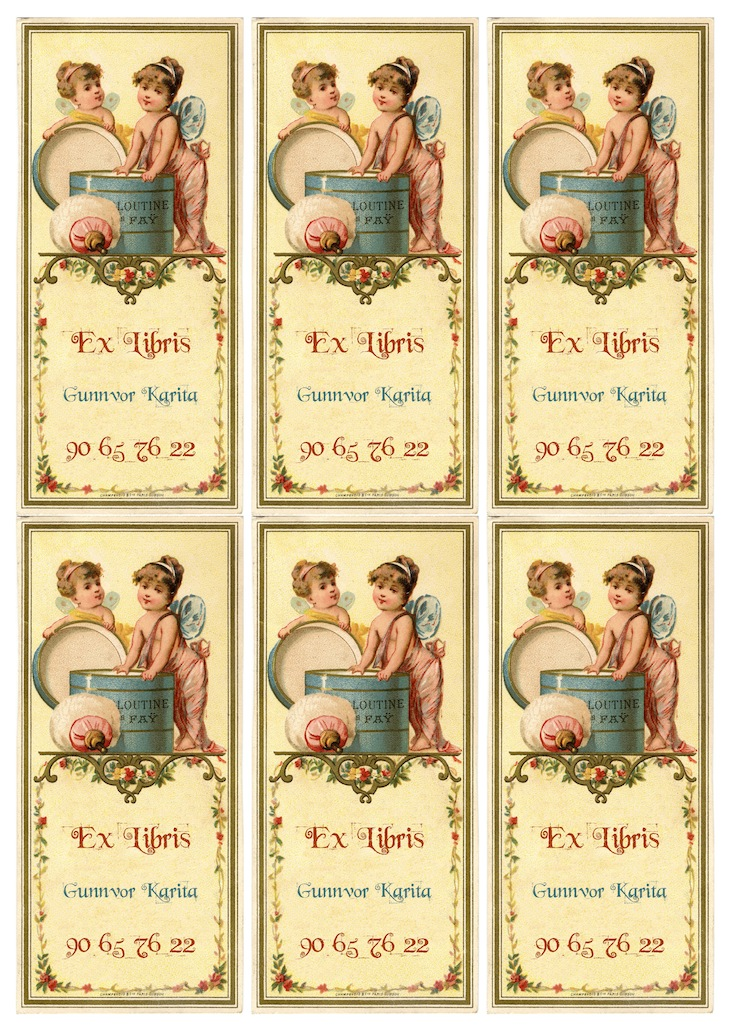 Wings of Whimsy: French Fairy Ex Libris Bookplates - free for personal use