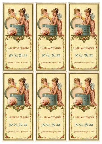 Wings of Whimsy: French Fairy Calling Card - free for personal use