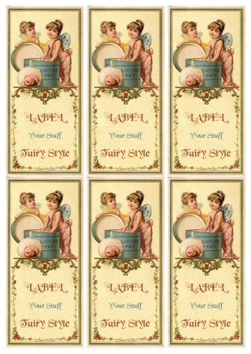 Wings of Whimsy: French Fairy Label Sheet - free for personal use