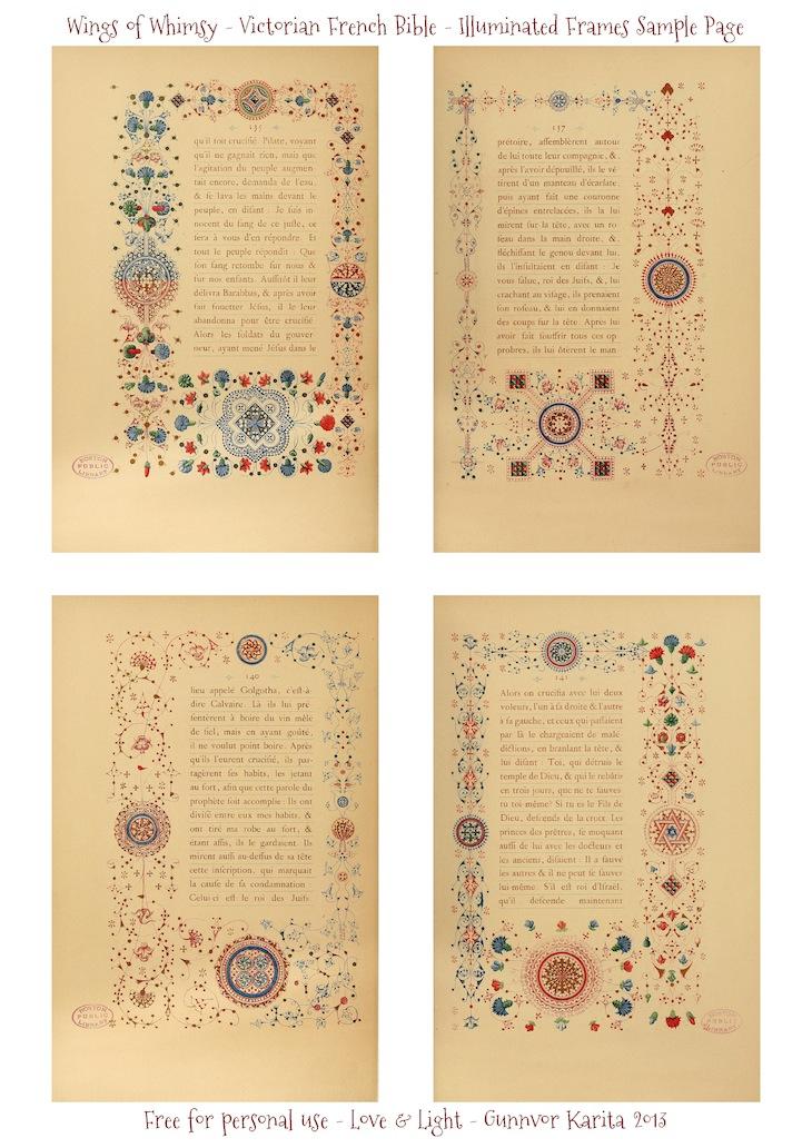 LesEvangilesIlluWIngs of Whimsy: Illuminated Victorian French Bible - Les Evangiles 1864 - Sample Page #vintage #victorian #ephemera #pintableminatedFrames_WingsofWhimsy_Page_11