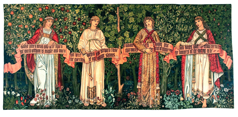 Wings of Whimsy: The Orchard by William Morris - Arras Tapestry - free for personal use #vintage #victorian #textile #design