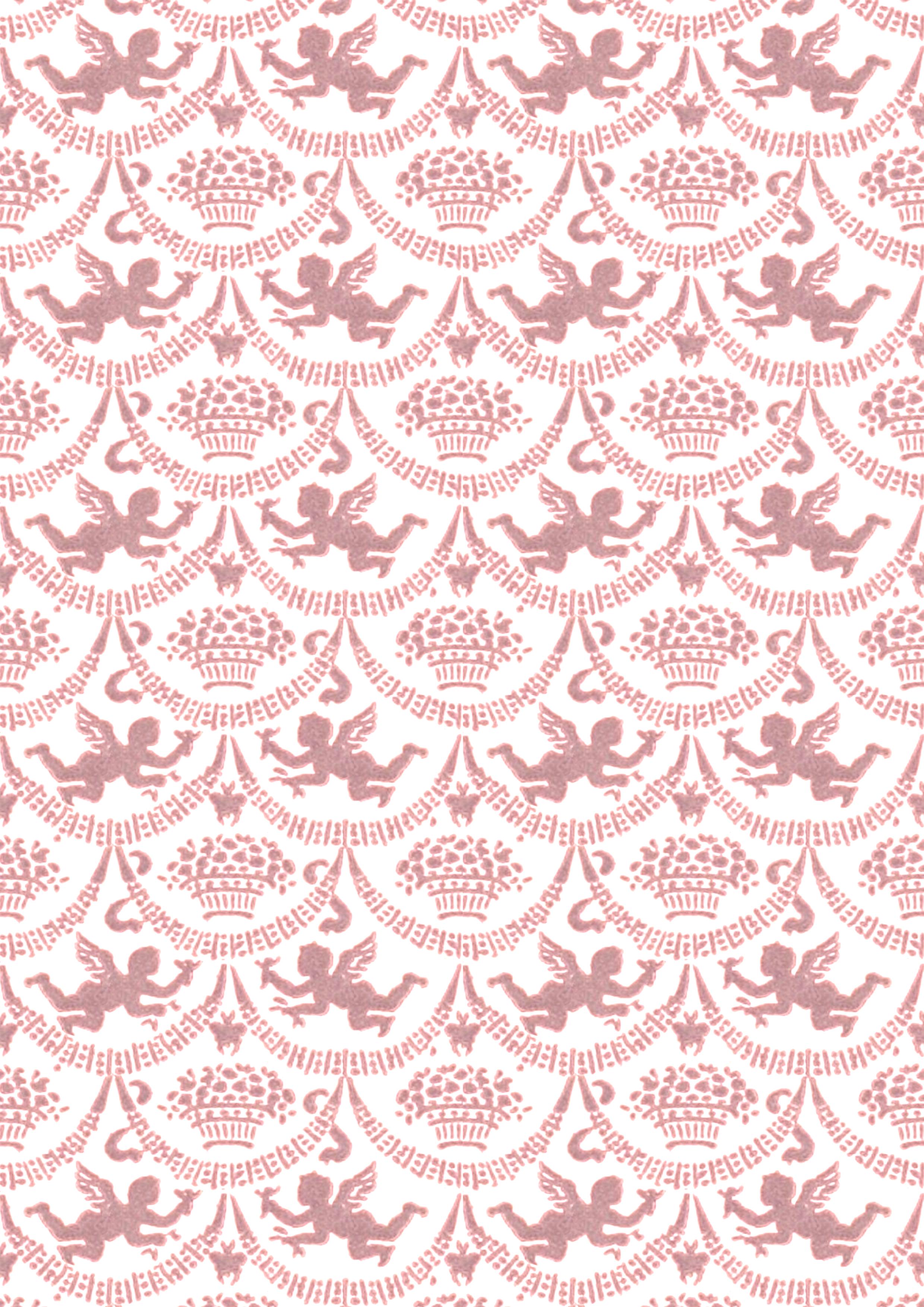 Walter crane cherubs 1900 seamless tile printable for Cute paper designs