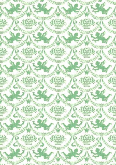 Wings of Whimsy: Cherub Paper  Fern - free for personal use #vintage #ephemera #printable