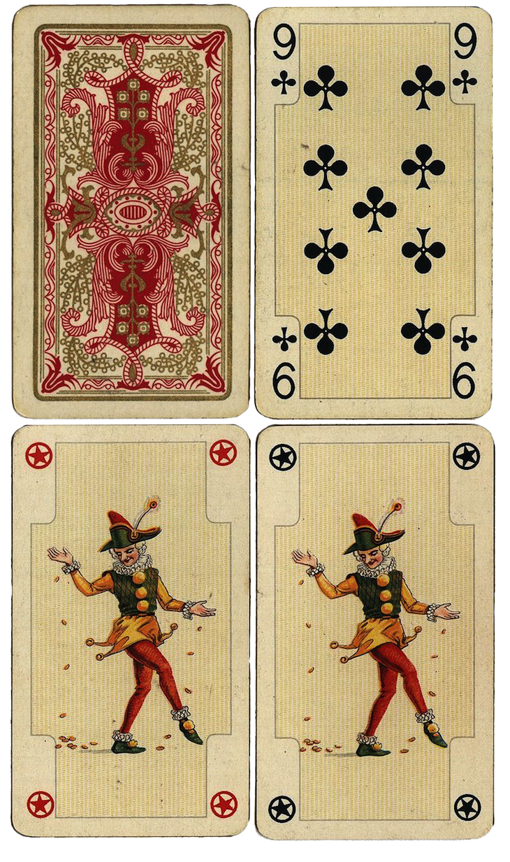 photograph relating to Printable Playing Cards referred to as Antique French Taking part in Playing cards Free of charge Huge Printables Wings