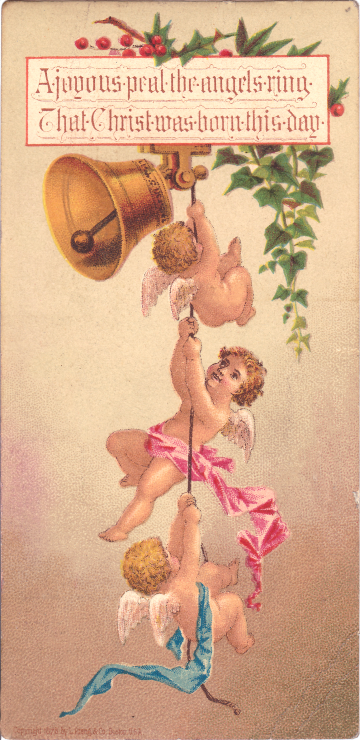 Wings of Whimsy: Cherub Christmas Card - free for personal use #victorian #ephemera #printable