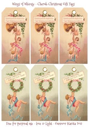 Wings of Whimsy: Cherub Christmas Tags -  free for personal use #victorian #vintage #ephemera #printable