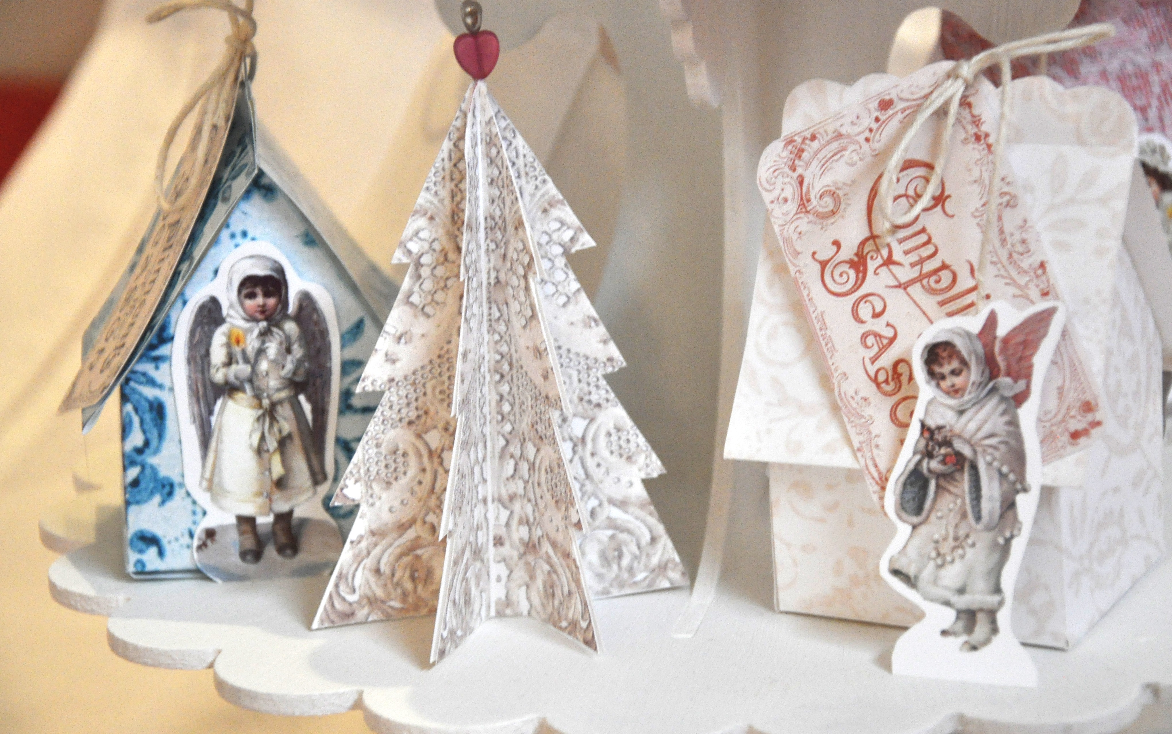 Vintage Christmas Village – DAY 1 – free printables – Wings of Whimsy