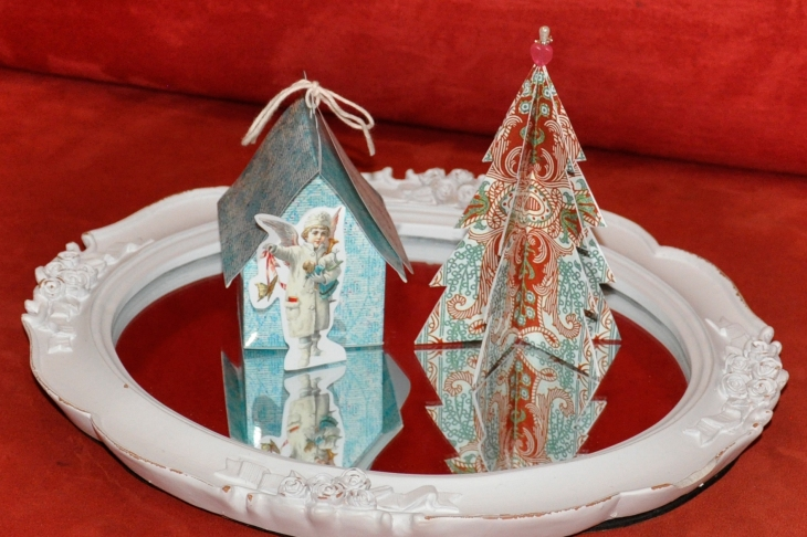 Wings of Whimsy: Vintage Christmas Village - DAY 15 - free printables #vintage #victorian #ephemera #cottage #cherub #tree