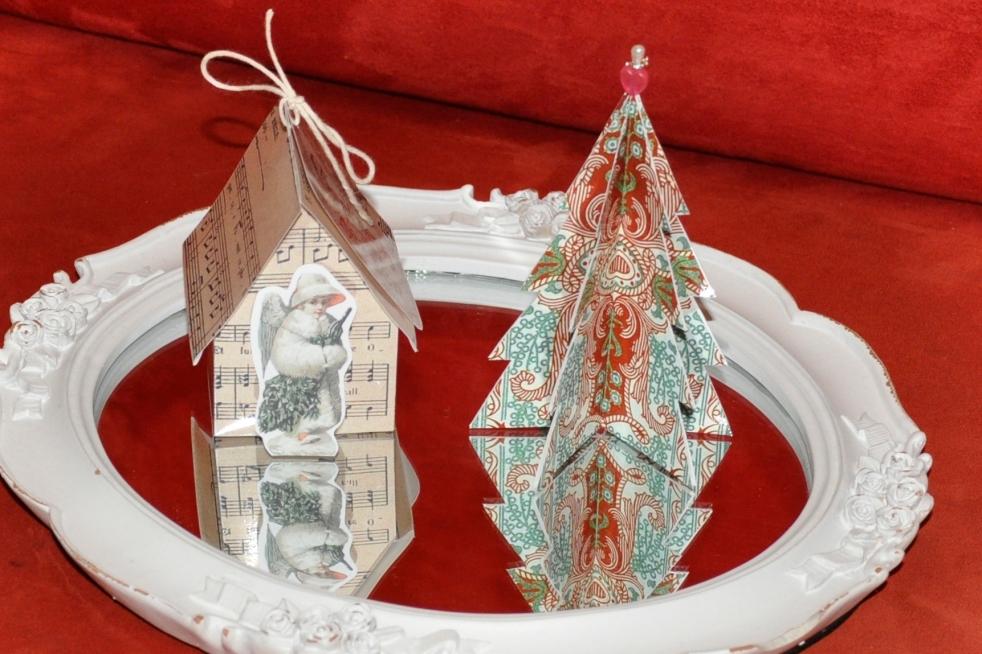 Wings of Whimsy: Vintage Christmas Village - DAY 13 - free printables #vintage #victorian #ephemera #cottage #cherub #tree
